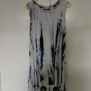 Acemi tie-dye stretchy tunic top M med sleeveless